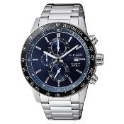 Citizen Men's Blue Chronograph Stainless Steel Bracelet Watch 6376819